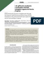 glifosato mediante inmunoensayo enzimático (ELISA)
