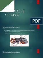 presentación materiales aleados