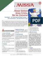 34º Domingo do Tempo Comum CRISTO REI - 22.11.20