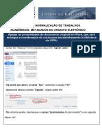 CHEK LIST SISTEMA DE BIBLIOTECAS - UFPR