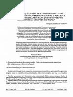 1Descentralização. papel dos Governos Locais Diogo Lordello