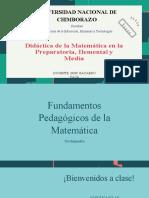 FUNDAMENTOS PEDAGOGICOS DE LA MATEMÁTICAS (1)