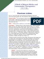 Fluoric acid - Allen Handbook
