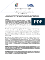 analyse sur IORA Balaclava Declaration on Womens Economic Empowerment and Gender Equality August 2018