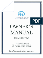 2003 Masterspas Owners Manual