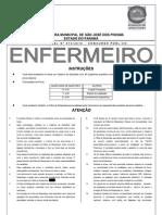 prova enfermeiro concurso São José dos Pinhais 2011