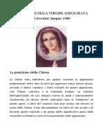 1. El Escorial. Racconto dei fatti, primi messaggi e visite di Arcangeli