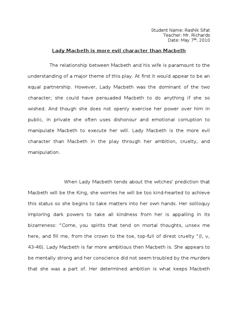 Essay notes macbeth top curriculum vitae proofreading site for mba