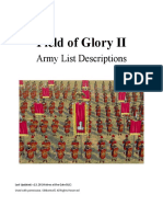 Field of Glory 2 Army List Descriptions