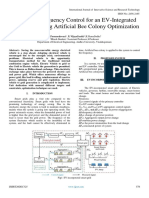 Optimized Frequency Control for an EV-Integrated Smart Grid Using Artificial Bee Colony Optimization