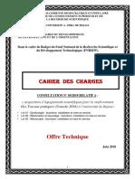 Offre Technique- Consultation n°05-2018
