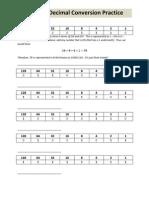 Binary Decimal Practice