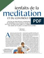 Bienfaits Meditation Controle Soi