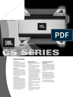 JBL CS60.2 manual