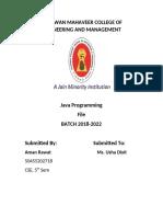 Java Practical File IPU