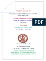 Organizational and Effectiveness of a HR of JK Paper Mill, Rayagada