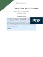 Apprendre Python Partie 1