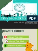 CHAP 2 TIME MANAGEMENT