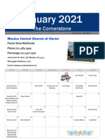 Minden UCC Cornerstone January 2021