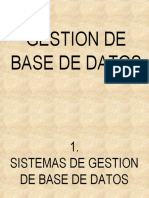 Sistemas de Gestion de Base de Datos