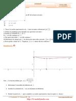 Serie d'exercices Corrigés - Math - Continuité - 3ème Sciences (2009-2010)