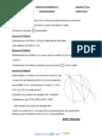 Devoir de Contrôle N°1 - Math - 1ère AS (2014-2015) Mr Bouzouraa Anis