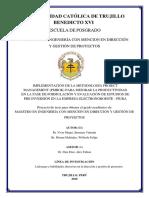 ESQUEMA DE PROYECTO DE INVESTIGACION  - WILFREDO PITMAN MELENDEZ