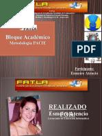 Bloque Académico... Metodología PACIE