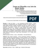 AEstética do Corpona Filosofia e na Arte da Idade Média - Texto e imagem _ Idade Média - Prof. Dr. Ricardo da Costa