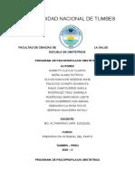 COORDINADORA RAMOS SHEILA-GRUPO 1 SABADOS PROGRAMA DE PSICOPROFILAXIS OBSTETRICA