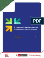 ORIENTACIONES CARPETA DE RECUPERACIÓN