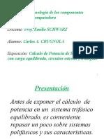 Cálculo de potencia en sistemas trifásicos Estrella Triángulo