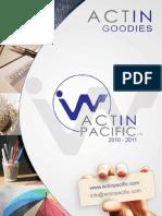ActinPacific Catalogue 2011 goodies support de communication - Basse Résolution 4MB