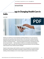How Technology Is Changing Health Care in India - Knowledge@Wharton