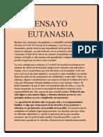 ENSAYO EUTANASIA