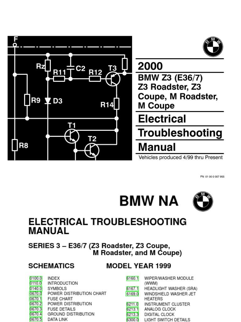 2000 BMW Z3 - M Roadster - Z3 - M Coupe Electrical Troubleshooting Manual |  Anti Lock Braking System | Vehicle PartsScribd