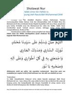 Sholawat Nur Habib Umar Ibn Hafidz