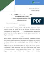 PERGOTENDA Tar-Lazio-12151-2020