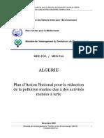 Plan d'Action National pour la réduction de la pollution marine due à des activités menées à terre