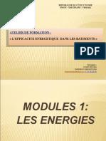Module 1. GENERALITES SUR LES  ENERGIES
