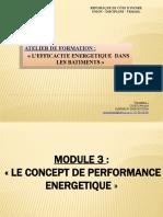Module 3. LE CONCEPT DE PERFORMANCE ENERGETIQUE