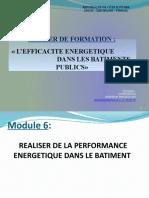 Module 6. LA PERFORMANCE ENERGETISUE DANS LE BATIMENT