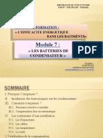 Module 7. LES BATTERIES DE CONDENSATEUR