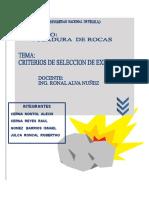 SELECCIÓN DE EXPLOSIVOS