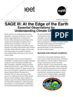 NASA Facts SAGE III at the Edge of the Earth 2001