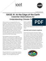 NASA Facts SAGE III at the Edge of the Earth 2002
