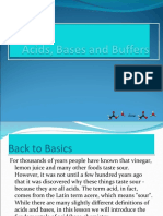 Acids, Bases and Buffers