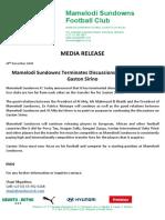 Mamelodi Sundowns terminates discussions with Al Ahly on Gaston Sirino