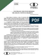 Nota Técnica  sobre o Orçamento (no. 38 INESC)