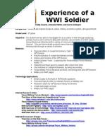 WWI Soldier Lesson Plans